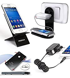Riona Mobile Holder/Stand/Hanger MHWS + Desk Stand + Cable Organizer + Scratc... MH-WSB-C
