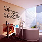 #10: PVC LIVE LAUGH LOVE Letters Removable Room Art Mural Wall Sticker Decal