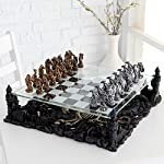 Ambassador Handmade Wooden Chess Set w/ 21 Inch Board and Detailed Chessmen
