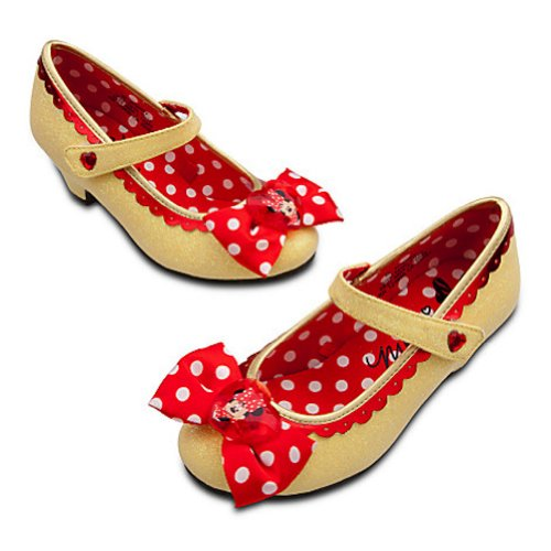 Disney Store Minnie Mouse Toddler Girls Yellow Sparkling Shoes 13 / 1 Youth