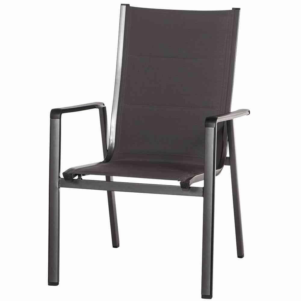 MWH Stuhl Futosa Stapelsessel, Aluminiumgestell, Textilgewebe, grau / anthrazit kaufen