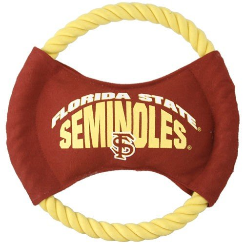 Florida State Seminoles (FSU) Disk Rope Dog Toy