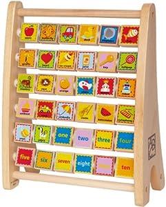 Hape E1002 - Ábaco de objetos y números (contenido en inglés) [Importado de Reino Unido] de Hape en BebeHogar.com