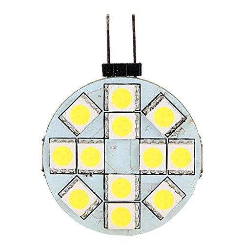 1X G4 12 SMD 5050 LED-Birnen-Lampe 12V Reinweiß Licht Auto