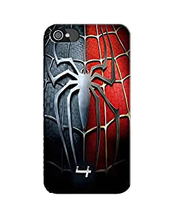 EU4IA Spiderman 4 Pattern MATTE FINISH 3D Back Cover Case For iPhone 4 - D084