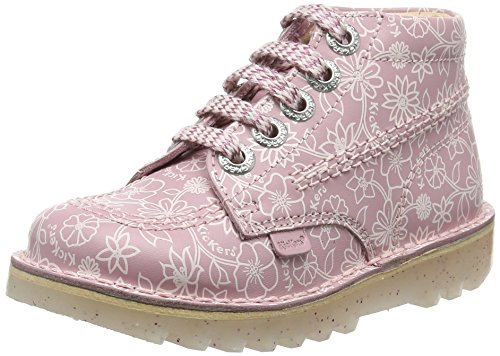 Kickers Kick Hi Print, Stivaletti da ragazza, colore rosa (light pink), taglia 30 EU (12 Child UK)