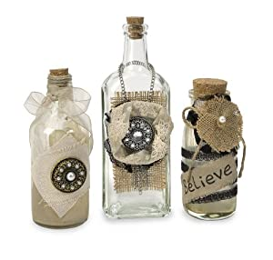 imax iva vintage decorative bottles set of 3 co