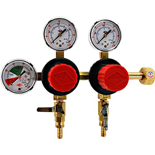Taprite T752HP Two Product Dual Pressure Kegerator CO2 Regulator (Co2 Gauge For Kegerator compare prices)