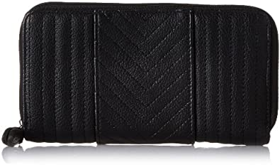 Jessica Simpson Allie Sonya LG Double Z/A Card Case,Black,One Size