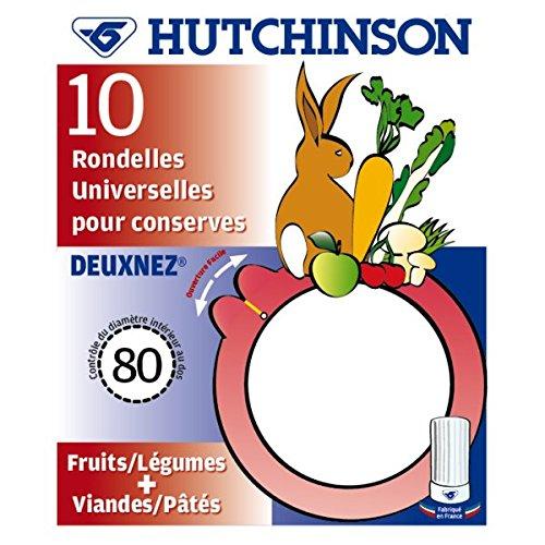 Hutchinson 485144 Sachet de 10 Rondelles Universelles avec Deux Nez Caoutchouc Orange 80 x 56 x 2,5 cm