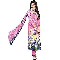 Shelina pink crepe digital printed salwar suit