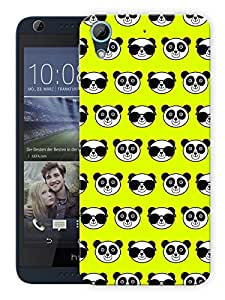 """Humor Gang Cute Pandas Green Printed Designer Mobile Back Cover For """"HTC DESIRE 626"""" (3D, Matte, Premium Quality Snap On Case)"""