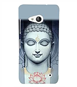Buddha Wallpaper 3D Hard Polycarbonate Designer Back Case Cover for Lumia Lumia 550 :: Microsoft Lumia 550