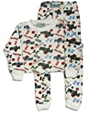 Chill Factor - Infant Boys Long Sleeve Thermal Underwear Set, White, Multi (Size 24Months)