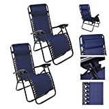 Magshion*Recliner Lounge Chair Adjustable Ankle Upright- Blue 1 Pair
