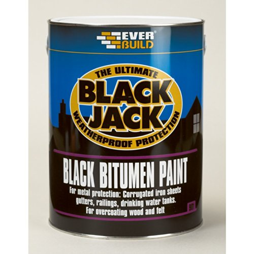 Everbuild 90105 - Black Bitumen Paint 901 5L