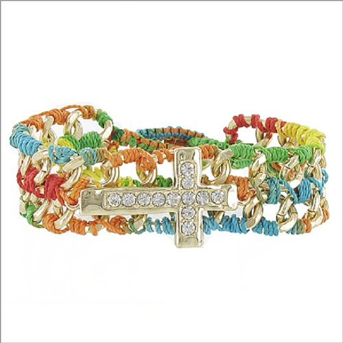 JOA Crystal Stone Cross Accent Bracelet #041467