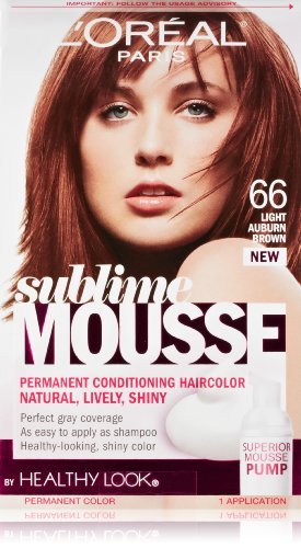 L'Oreal Paris Sublime Mousse by Healthy Look Hair Color, 66 Light Auburn Brown by L'Oreal Paris