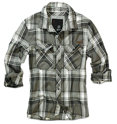Brandit (Zannysbox Edition) -  Camicia Casual  - Con bottoni  - Maniche lunghe - Uomo oliva Medium