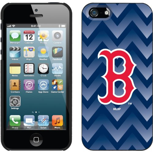 Best Price Boston Red Sox - Gradient Chevron design on a Black iPhone 5s / 5 Thinshield Snap-On Case by Coveroo