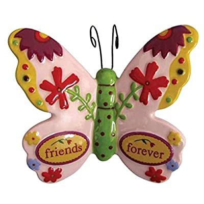 WL SS-WL-15940 Friends Forever Decorated Butterfly Collectible Figurine, 1.75""