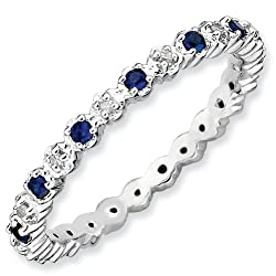 Diamond and Sapphire finger ring by Stackable Expressions