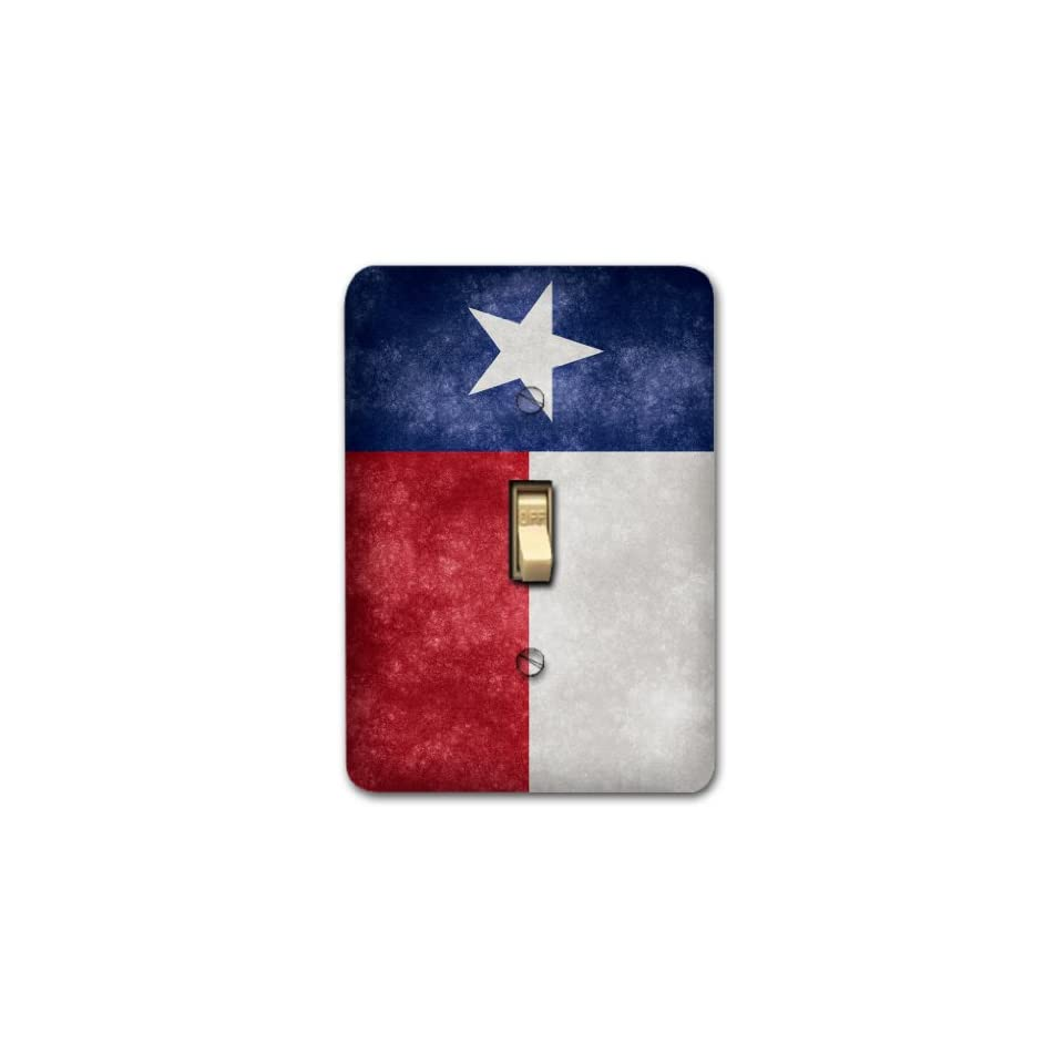 Texas Flag Metal Light Switch Plate Cover Single Home