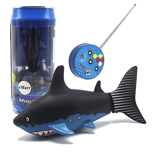 eMart Mini Remote Control Toy Electric RC Fish Boat Shark Swim in Water for Kids Gift - Black (Shark Remote Control compare prices)