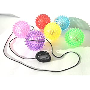 The All New Blinking Bungee Ball is a Ball on a String Set of 6