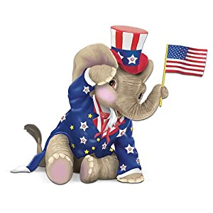 Peanut Pals Patriotic Elephant Figurine: O! Say Can You See by The Hamilton Collection