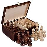 Staunton No. 6 Tournament Chess Pieces w/ Wood Box by Wegiel