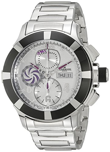 Charriol SuperSports C46AB.930.001 46mm Automatic Silver Steel Bracelet & Case Synthetic Sapphire Men's Watch