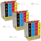 12x Printer XP405 XP 405 Ink Cartridges 18XL High Capacity -With Chip- Compatible For Use With Epson Expression Home XP-405 printers - (3x Black 3x Cyan 3x Magenta 3x Yellow)