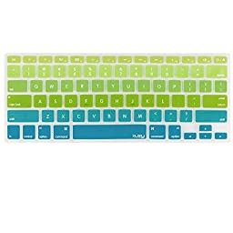 Kuzy - Green/Aqua Ombre Colors Keyboard Cover Silicone Skin for MacBook Pro 13\
