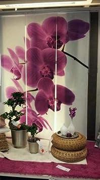 GroBartig Testbericht Lesen : IKEA EMELINA Gardine 3 Teilig Schiebegardine Schiebevorhang  Orchidee Blumen
