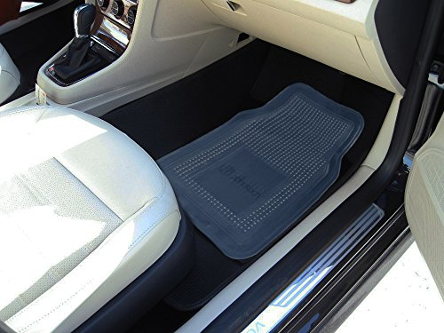 zone tech all weather full rubber clear car interior floor mats 4 piece set clear heavy duty. Black Bedroom Furniture Sets. Home Design Ideas