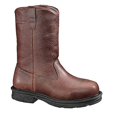 Wolverine Men's 10 Inch Fushion Internal Met Guard Steel Toe EH Wellington Work Boots - Chocolate 12 - Extra Wide