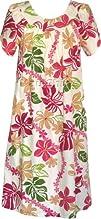 Tahitian Floral Lei Womens Petal Sleeve Muumuu House Dress