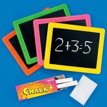 Fun Express 12-29 Plastic Neon Chalkboard Sets - 1