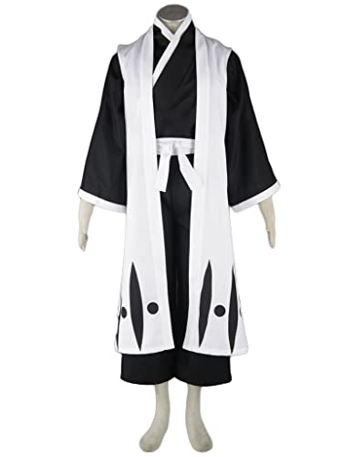 Bleach 10th Division Captain Toushiro Hitsugaya Cosplay Costumes (Medium)