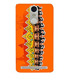 Ravan Clipart 3D Hard Polycarbonate Designer Back Case Cover for Lenovo Vibe K5 Note