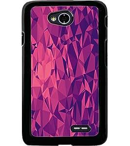 ColourCraft Diamond Pattern Design Back Case Cover for LG L70