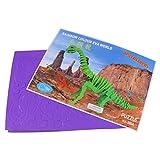 Juguete Rompecabezas Modelo de Esqueleto 3D Dinosaurio Simulación Madera Niños - Púrpura