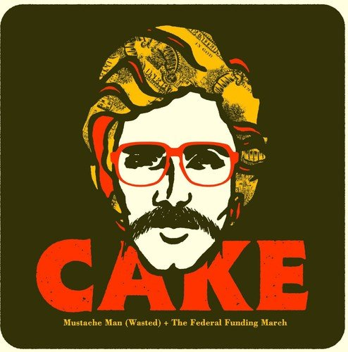 CD : Cake - Mustache Man (Wasted) (Colored Vinyl)