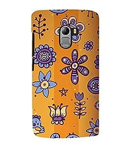 Floral Pattern Back Case Cover for Lenovo K4 note