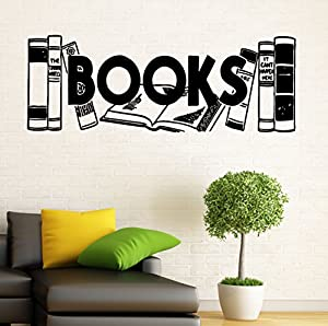 Books Wall Vinyl Decal Murals Library Sticker Bedroom Art Home Decor 11bcs01