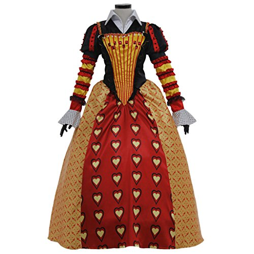 Halloween 2017 Disney Costumes Plus Size & Standard Women's Costume Characters - Women's Costume Characters Women's Plus Size Dress Set for Alice in Wonderland Red Queen of Hearts Cosplay