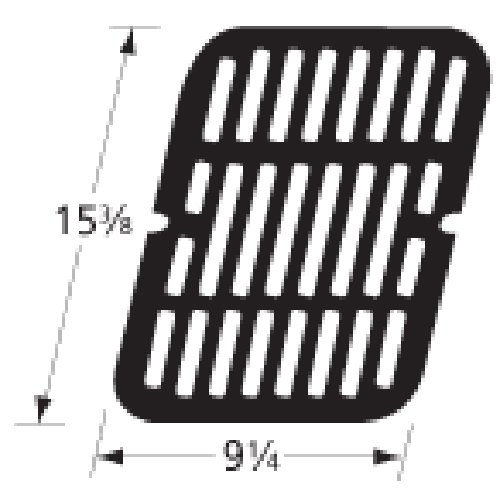 Music City Metals 59411 Stamped Porcelain Steel Cooking Grid Replacement for Select Brinkmann and Charmglow Gas Grill Models