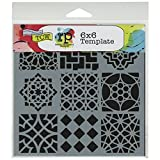 Crafters Workshop Template, 6 by 6-Inch, Moroccan Tiles