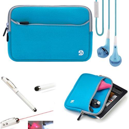Anti-Scratch Slim Neoprene Sleeve For Hp Slate 8 Plus Android Tablet + Handsfree Earphones + Stylus Pen